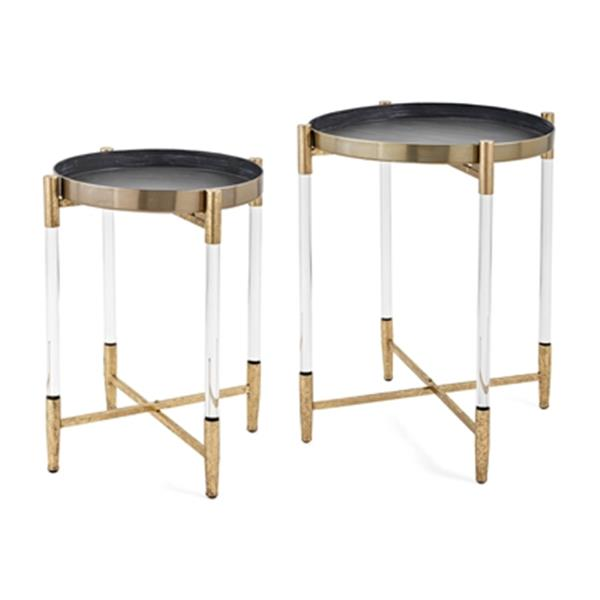 IMAX Worldwide Gold Anabelle Metal Tables (Set of 2)