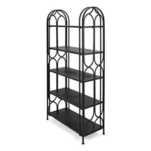 IMAX Worldwide Sedex 36-in x 15.75-in x 71-in Matte Black 4 Shelves Metal Shelf