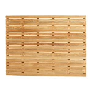 ARB Teak & Specialties 48-in x 36-in Teak Shower Base Bath Mat