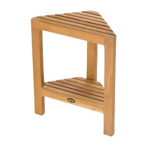 Fiji Corner Shaving Foot Rest with Shelf - 18
