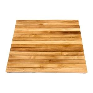 ARB Teak & Specialties 30-in x 36-in Teak Bath and Shower Mat