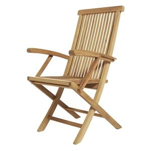 ARB Teak & Specialties Klip Klap  39.50-in x 23-in Outdoor Folding Arm Chair