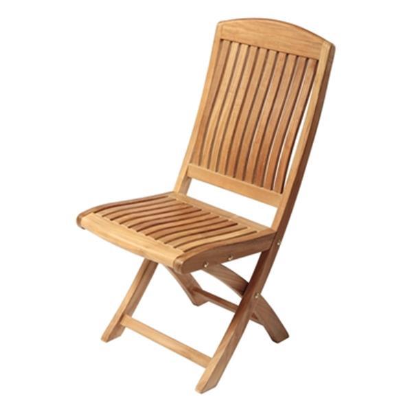"Colorado Outdoor Folding Side Chair - 38"" x 22"" - Teak -Wood"