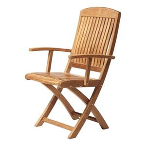 ARB Teak & Specialties Colorado 38-in x 22-in Outdoor Folding Arm Chair
