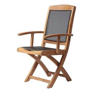 ARB Teak & Specialties Colorado 38-in x 22-in Outdoor Mesh Folding Arm Chair