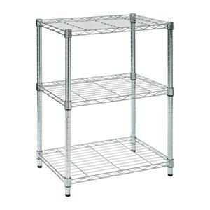 Honey Can Do Chrome 3-Tier Heavy Duty Adjustable Shelving Unit