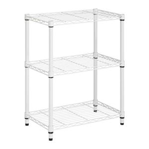 Honey Can Do White 3-Tier Heavy Duty Adjustable Shelving Unit