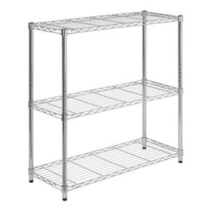 Honey Can Do 3-Tier Chrome Adjustable Steel Shelving Unit