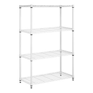Honey Can Do White 4-Tier Shelving Unit