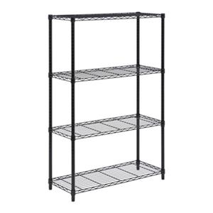 Honey Can Do Black 4-Tier Shelving Unit