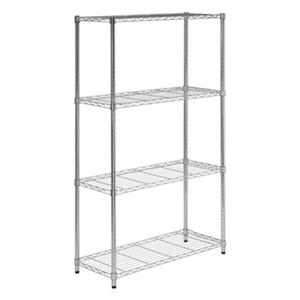 Honey Can Do 4-Tier Chrome Heavy Duty Adjustable Storage Shelves