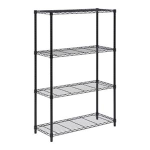 Honey Can Do 4-Tier Black Heavy-Duty Adjustable Shelving Unit