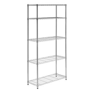 Honey Can Do Chrome 5-Tier Heavy Duty Adjustable Shelving Unit