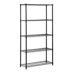 Honey Can Do Black 5-Tier Heavy Duty Adjustable Shelving Unit