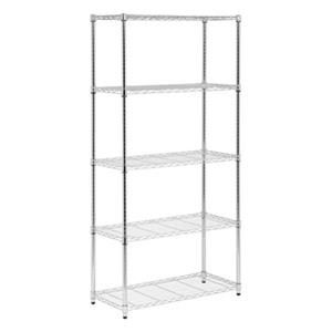 Honey Can Do Chrome 5-Tier Heavy Duty Adjustable Storage Shelf