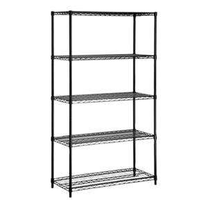 Honey Can Do Black 5-Tier Heavy Duty Adjustable Storage Shelf
