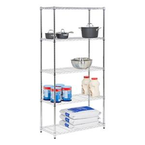 Honey Can Do Chrome 5-Tier Shelving Unit