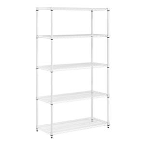 Honey Can Do White 5-Tier Heavy Duty Adjustable Shelving Unit