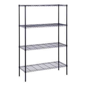 Honey Can Do 4-Tier Black Shelving Unit