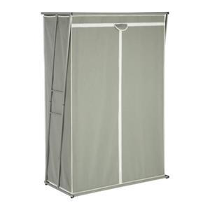 Honey Can Do 46-in Z Wardrobe with Gray Cover,WRD-02919