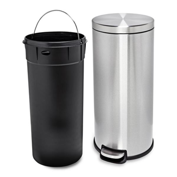 Honey Can Do Stainless Steel 30L Step Trash Can