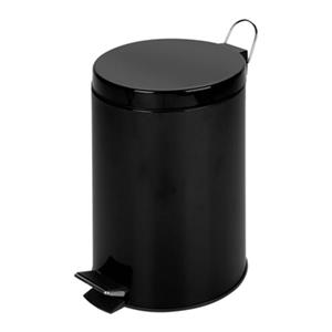 Honey Can Do Black Metal Pedal 12L Trash Can