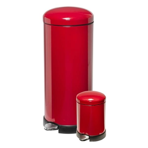 Honey Can Do Red 30 L & 3 L Round Soft-Close Trash Can Combo