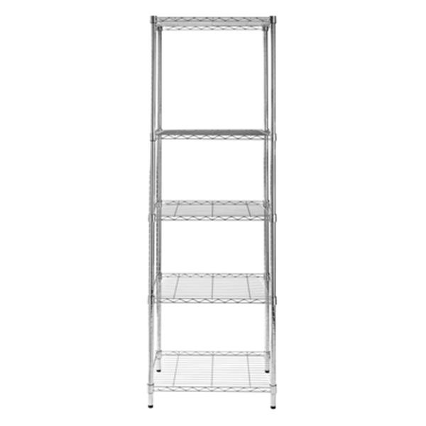 Honey Can Do Chrome 5- Tier Heavy Duty Adjustable Storage Shelving Unit