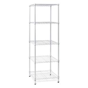 Honey Can Do White 5 Tier Heavy Duty Adjustable Storage Shelving Unit