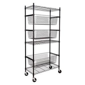 Honey Can Do Black Sports Storage Shelving Unit