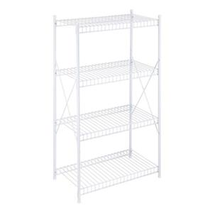 Honey Can Do White 4 Tier Wire Storage Shelf