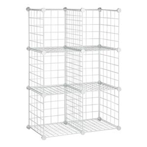 Honey Can Do White Mesh Cube Storage Set
