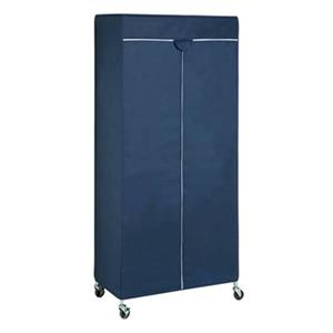 Honey Can Do Navy/White Portable Garment Rack Cover,GAR-0219