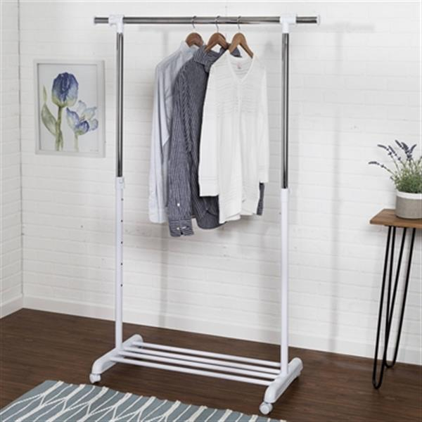Honey Can Do White Expandable Garment Rack,GAR-03265
