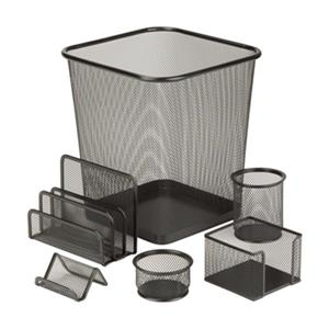 Honey Can Do 6 pc Black Mesh Desk Set