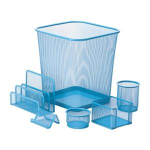 Honey Can Do 6 pc Blue Mesh Desk Set