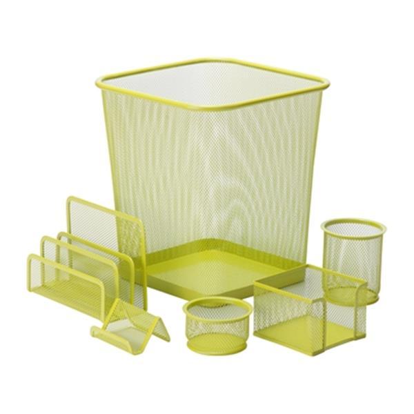 Honey Can Do 6 pc Lime Green Mesh Desk Set