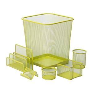 Honey Can Do 6 pc Lime Green Mesh Desk Set