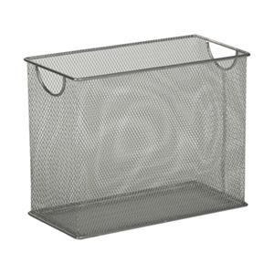 Honey Can Do 9.88-in x 1.48-in Grey Mesh Tabletop File Folder Holder