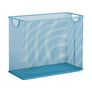 Honey Can Do 9.90-in x 1.25-in Blue Mesh Table Top File Holdder