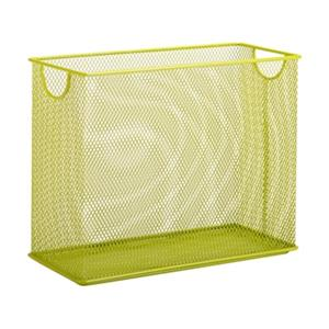 Honey Can Do 9.90-in x 1.25-in Lime Green Mesh Table Top File Holdder