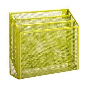 Honey Can Do 11.50-in x 1.80-in Lime Green Vertical File Sorter
