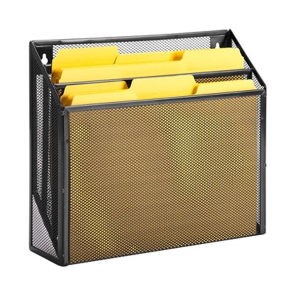 Honey Can Do 11.50-in x 1.80-in Black Vertical File Sorter
