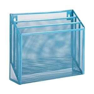 Honey Can Do 11.50-in x 1.80-in Blue Vertical File Sorter