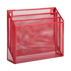 Honey Can Do 11.50-in x 1.80-in Red Vertical File Sorter