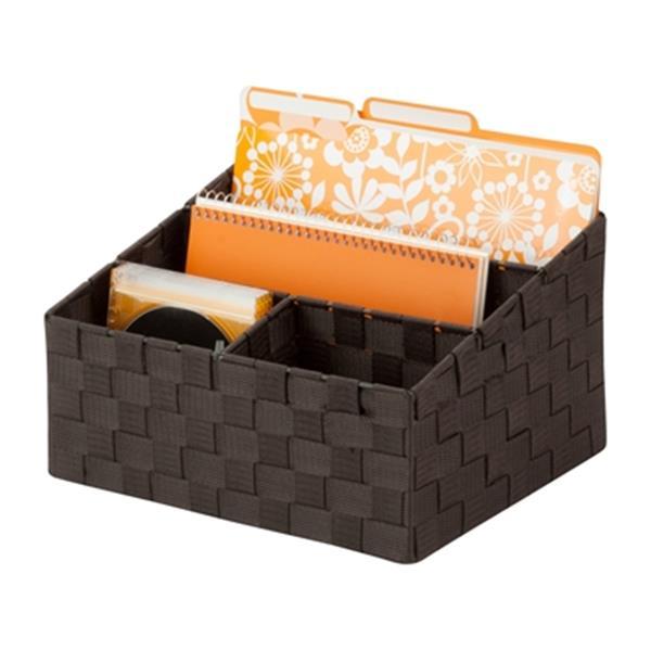 Honey Can Do 7-in x 1.37-in Espresso Mail Desk Organizer