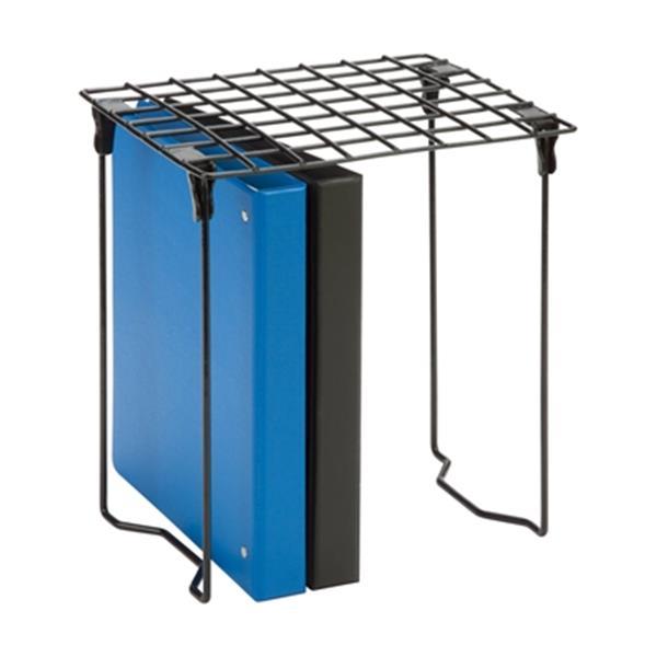 Honey Can Do 12.75-in x 1.20-in Black Stackable Steel Locker Shelf