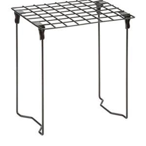 Honey Can Do 12.75-in x 1.20-in Black Stackable Steel Locker Shelf