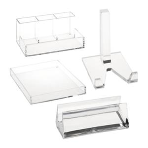 Honey Can Do Clear Acrylic Desk Organization Bundle