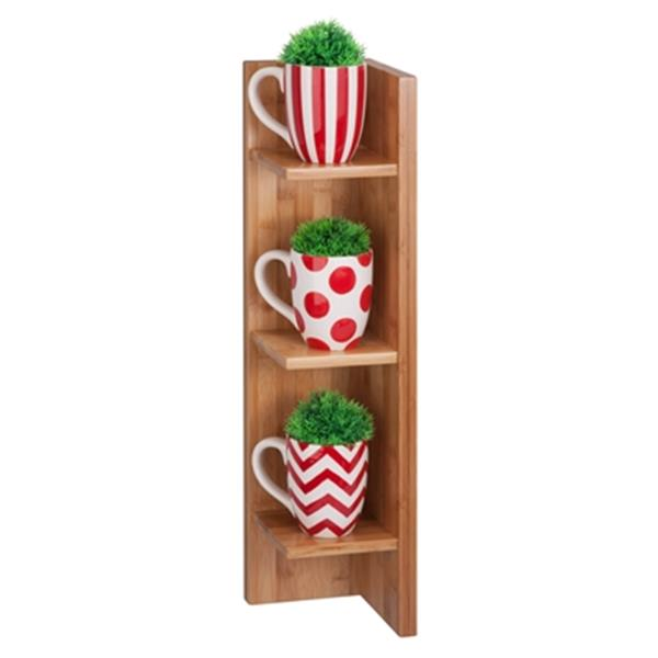 Honey Can Do 23.62-in Bamboo Sectioned Wall Shelf